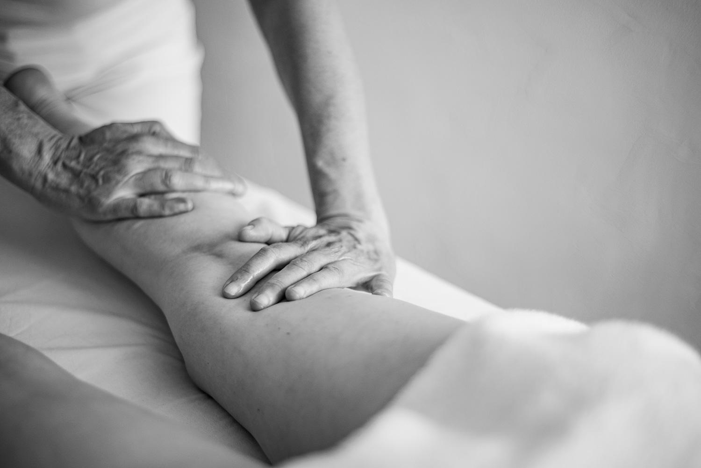 Massage du mollet